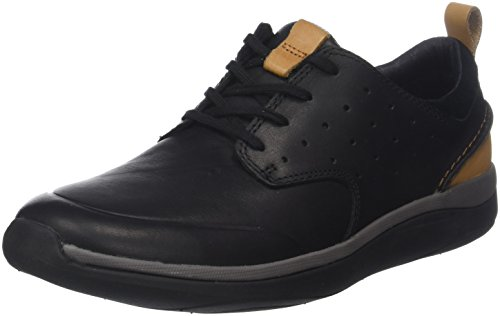 Clarks Garratt Lace, Botas Clasicas para Hombre, Negro (Black Leather), 42.5 EU