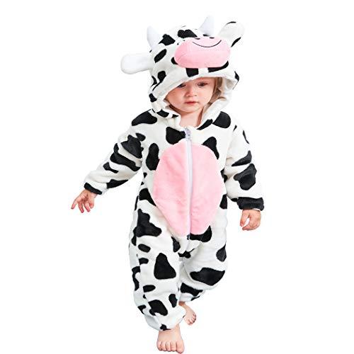 a7b20c3492 Traje de Franela Encapuchado para Bebé Recién Nacido Ropa Mameluco Pelele  con Capucha Niños Niñas Pijama
