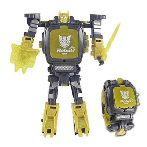 Volwco Toy Watch Transformers Spielzeug, 2-in-1 Projektion Armbanduhr Transformation Spielzeug Figuren Für Kinder, Digitaluhr Elektronische Roboter Spielzeug