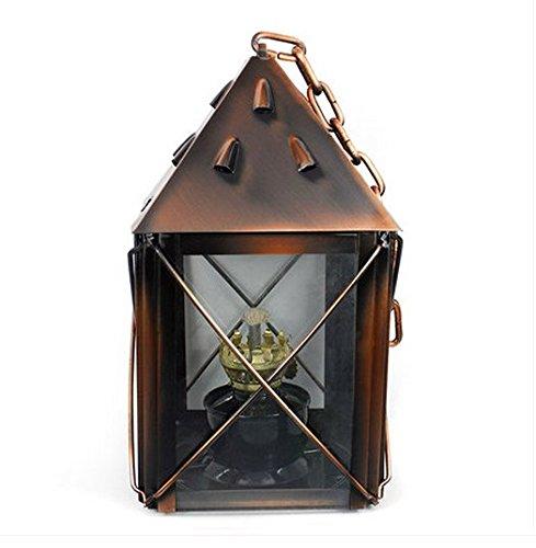 ZZZ-Kerosinlampe Beleuchtung Kerosene Laterne Retro-Nostalgie Bronze-Lampe Outdoor-Camping-Zelt tragbare Lampe Hängelampe Camping (Tragbare Lampe Bronze)