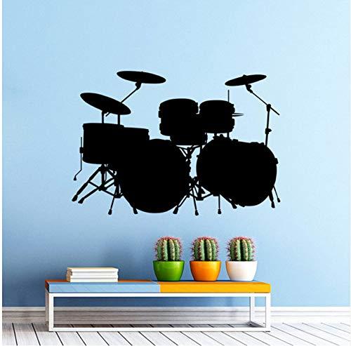Pbbzl Vinyl Wandaufkleber Musik Drum Kit Schlagzeug Wandtattoo Rock Band Art Design Home Schlafzimmer Dekor Musik TrommelWandkunstwandbild40X57 Cm