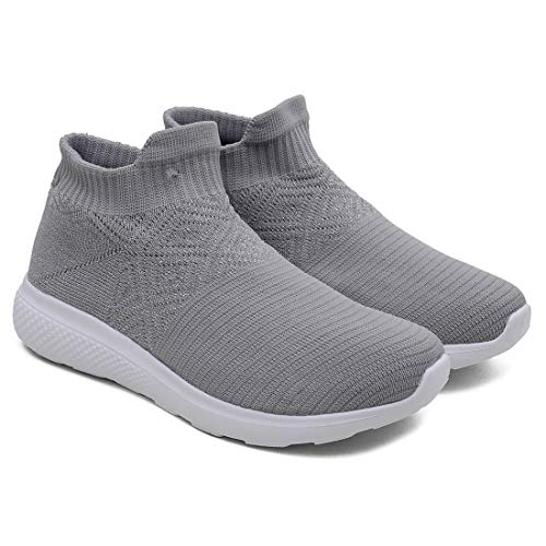 ASIAN Women's Fancy-01 Grey Walking Shoes, Shoes,Sports Shoes, Fabric Sports Shoes (UK-6)