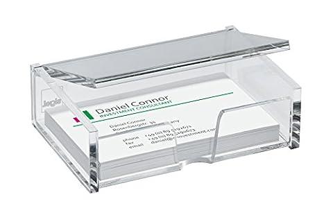 Sigel VA112 Porte-cartes de visite, pour 80 cartes format 9 x 5,8 cm, en acrylique transparent