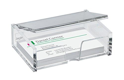 Preisvergleich Produktbild Sigel VA112 Visitenkarten-Box für 80 Karten, glasklar Acryl