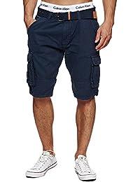 Indicode Herren Monroe Cargo ZA Cargo Shorts Bermuda Kurze Hose mit Gürtel 7c757205cb