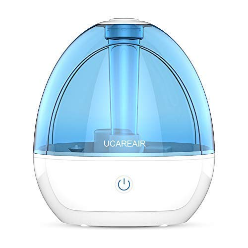 "UCAREAIR Cool Mist Humidifier â€"" Room Humidifier for Bedroom Baby, Super Quiet Mist Humidifier with High Low Mist Output, Waterless Auto-Off, Night Light, Filterless Humidifiers for Home Off"