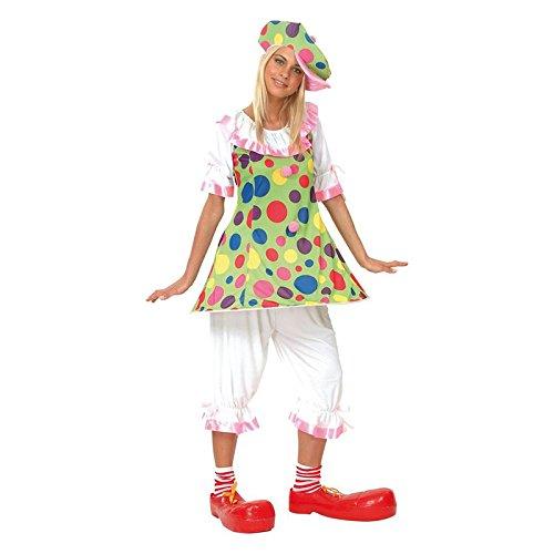 P' tit Clown-86045-Costume adulto clown donna con Ring-Taglia unica