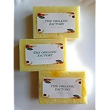 The Organic Factory - Bergamot and Goat Milk soap/Oily skin/pimple prone/Un - Even skin tone - 3 pc