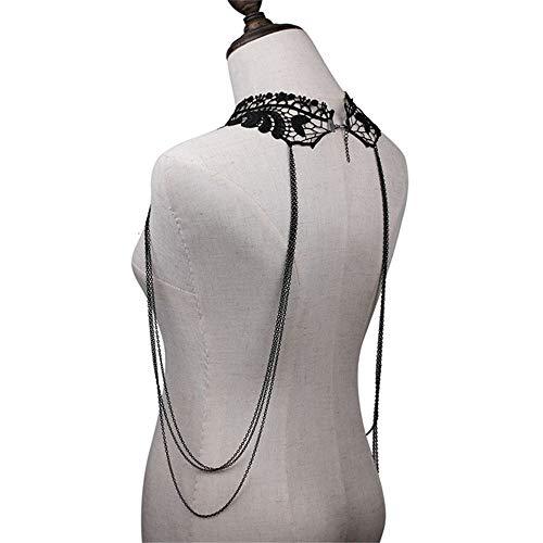 Bangxiu BH-Ketten Mode Atmosphäre Sexy Spitze Metallkette Kette Damen Accessoires - 5