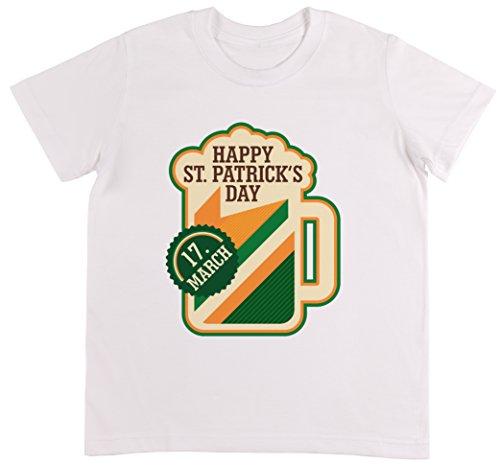St. Patrick Tag Bier Unisex Kinder Weiß T-shirt -