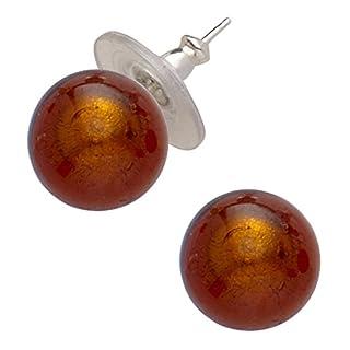 Amanti Venezia Murano Ohrringe Kupfer Glas Ohrringe