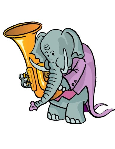 Blank staff paper notebook for kids: 150 pages. 8,5 x 11 paper (21.59 x 27,94 centimeters),  6 large staves per page. Laminated. Cover image: Elephant