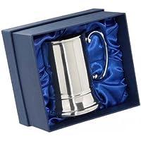 Personalised Engraved Stainless Steel Tankard In Luxury Gift Box