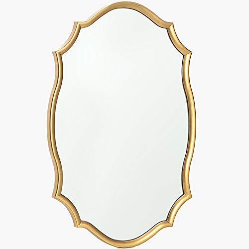 GUOWEI Spiegel Wandspiegel Hängespigel Badezimmer High-Definition Eingerahmt Hölzern Dekoration...