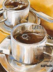 Eurographics ESP1171, E. Espin, Il Rito Del Caffè, Poster con stampa artistica di alta qualità, 18 x 24 cm