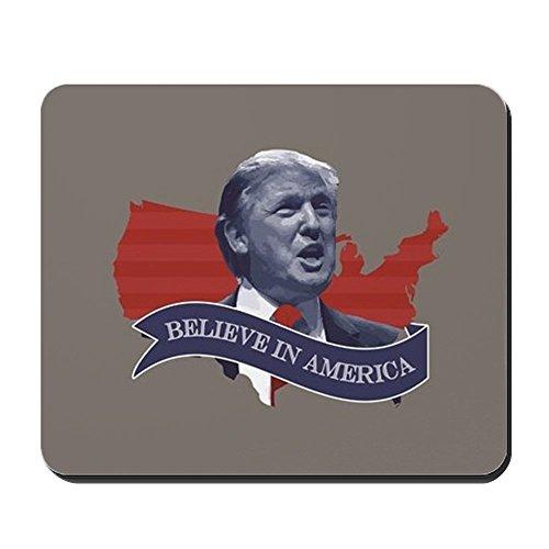 Preisvergleich Produktbild CafePress–Believe In America–Donald Trump–rutschfeste Gummi Mauspad, Gaming Maus Pad