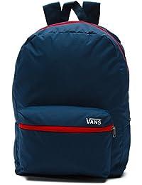 Vans Packable Old Skool Backpack Dress Blues-Racing Red
