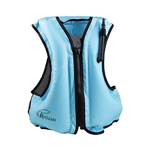 Rrtizan Adulte Unisexe Portable gonflable Tuba Gilet pour la plongée en toute sécurité, convient pour 80–99,8kilogram