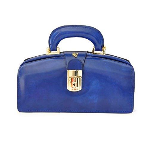 Pratesi Lady Brunelleschi borsetta - R120/N Radica (Panna) Blu Elettrico