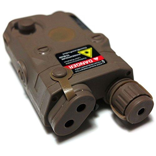 Airsoft Softair Ausrüstung PEQ 15 Art Batterie-Kasten-Kasten mit RIS Berg Brown Tan