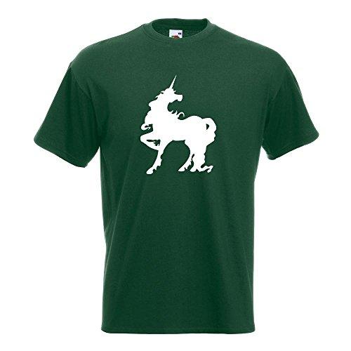 KIWISTAR - Einhorn T-Shirt in 15 verschiedenen Farben - Herren Funshirt bedruckt Design Sprüche Spruch Motive Oberteil Baumwolle Print Größe S M L XL XXL Flaschengruen