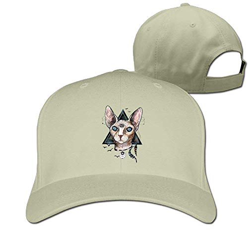 Zhgrong Caps Bib Sphynx Cat Solid Travel Cap Baseball Cap Sport Hats for Men and Womens Sports Cap -