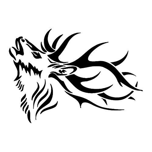 ZHOUMIYU Etiqueta Engomada Reflectante Pegatinas De Coche 15 2 * 10 8 Cm Adulto Ciervo Macho Vinilo Animal En Forma De Coche Vinilo Exterior Caza Coche Pegatinas 8 @ 黑
