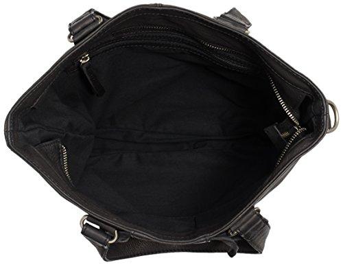 AMSTERDAM COWBOYS Damen Bag Winterton Schultertaschen, 30x34x10 cm Schwarz (Black 100)