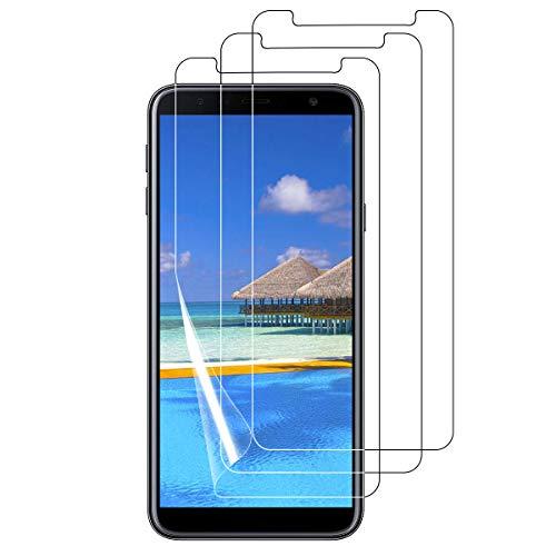Bigmeda Schutzfolie für Samsung Galaxy J4 Plus/J6 +,Blasenfrei, Anti-Kratzen, Anti-Öl, HD Klar Flexible Displayschutzfolie für Samsung Galaxy J4+/j6 Plus Folie [3 Stück]