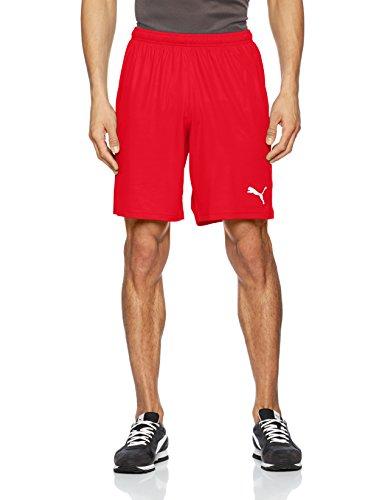 PUMA Herren Liga Shorts Core with Brief Hose, Red White, 3XL
