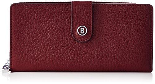 Bogner Damen New Funda Geldbörse, Rot (Carmine), 3x10x19 cm (Drei Hobo Zip)