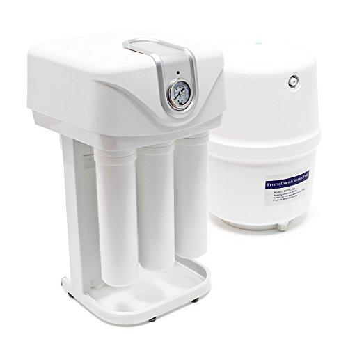 Naturewater 5 Stufen Umkehrosmose 180 L/Tag mit Rahmen Druckanzeige und staubdichtem Gehäuse -