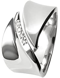 Hot Diamonds Damen-Ring Sterling-Silber 925 1 Diamant DR076/K-p