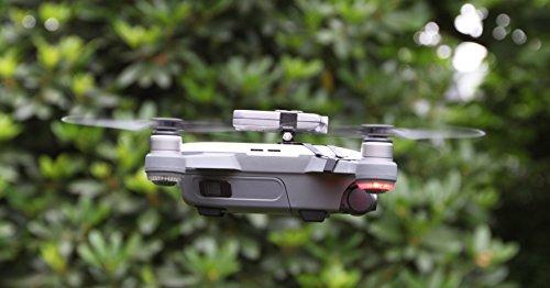 Preisvergleich Produktbild Roboterwerk Drone Top Headlight / Nachtflug LED Scheinwerfer (DJI SPARK Drohne Zubehör) - 360 Lumen (FPV Beleuchtung), hellweiß, 15° stufenlos neigbar, bis zu 90 Minuten Akkulaufzeit, Gesamtgewicht 35 Gramm