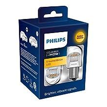 Philips 11498XUAXM LED car signaling Bulb (PY21W Amber), Set of 2