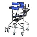 KOSHSH Multifunktions-Gehrahmen für Erwachsene, Heimhelfer-Walker Rollator mit Höhe und Breite einstellen Rehabilitation Standing Trous,Withseatplate