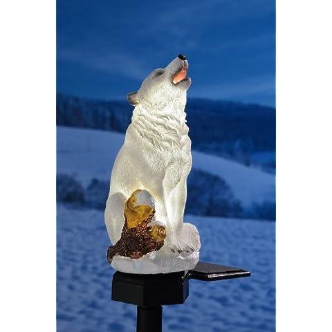 Solar LED lampada Polar Wolf giardino decorativo