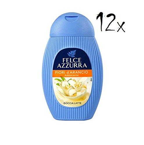 12x Felce Azzurra Fiori d'arancio Orangenblüten gel Duschcreme Duschgel 250ml