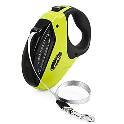 Pecute Retractable Dog Lead - Easy One Button Brake & Lock - Extends up to 16 Feet of Freedom and Protection - Pulling Force up to 110 lbs by Pecute