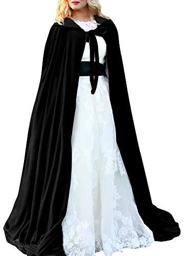Romacci Capa Halloween Con Capucha Terciopelo Brujas