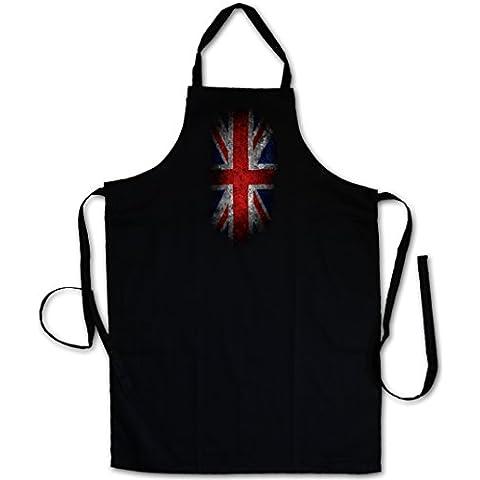 VINTAGE UK UNION JACK FLAG DELANTAL DE LA BBQ BARBEQUE COCINA PARRILLA- England Bandera Inglaterra Reino Unido Great Britain bandiera Queen Banner