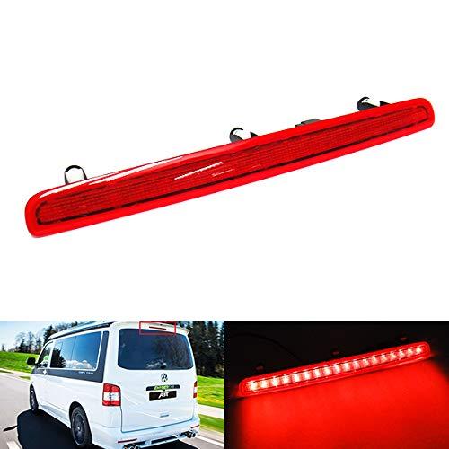 Rouge objectif LED arrière Tailgate Centre de haut niveau Troisième feu stop de frein pour 2003-15 Volks Transporter T5 Caravelle Multivan MK V