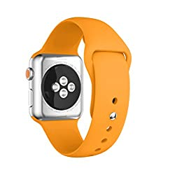 Yayuu Apple Watch Bands 38mm 42mm, Soft Silicone Watch Band Sport Replacement Wristband For Apple Watch 38mm Series 3, Series 2, Series 1, Sport & Edition
