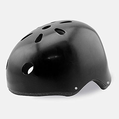 TKWMDZH® Movimiento de casco de montar a caballo del casco Skate forma , black