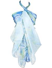 6b6bd546d9a9 Heyjewels Fleurs Imprimées Echarpe Foulard Robe de Plage Satiné Agréable ...