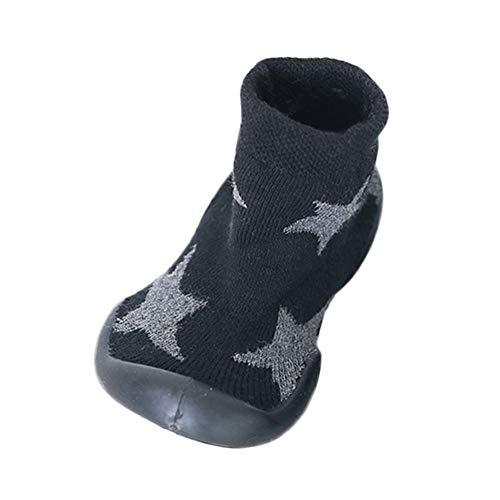 Mitlfuny Unisex Babyschuhe Mädchen Jungen Anti-Slip Socken Slipper Stiefel,Neugeborenes Baby Mädchen Jungen rutschfeste Socken Bowknot Slipper Schuhe Strumpf (Hausschuhe-socken Für Baby Mädchen)