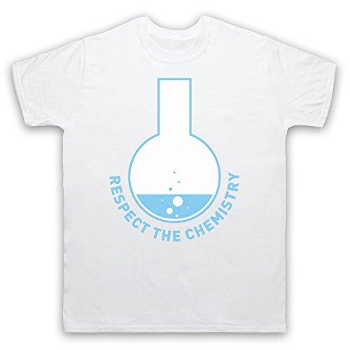 Respect The Chemistry Science Herren T-Shirt Weis
