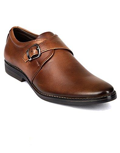 Vardhra Men's 100% Genuine Leather Monk Strap Shoes