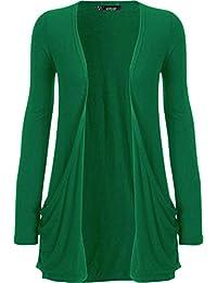 WearAll Damen Langarm Freund Boyfriend style Strickjacke Cardigan Top - 19  Farben - Größe ... 861b8eee95