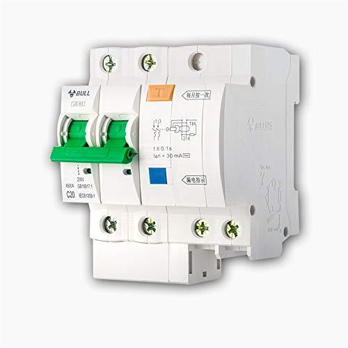 HFJGJ Interruptor Principal del Interruptor Interruptor de Fuga 2P63A32A Aire Acondicionado 1P...